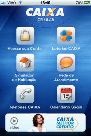 Tela inicial do aplicativo