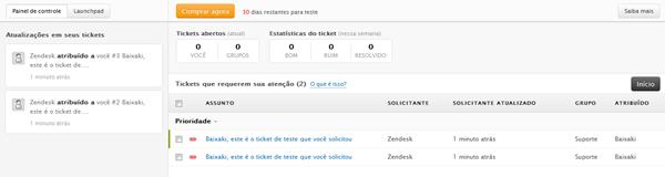 Atendimento de tickets