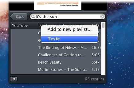Adicione as músicas para uma playlist