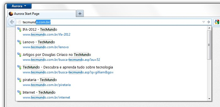 Mozilla Firefox Aurora 17