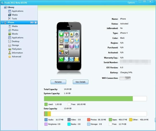 Confira o espaço ocupado no seu dispositivo.