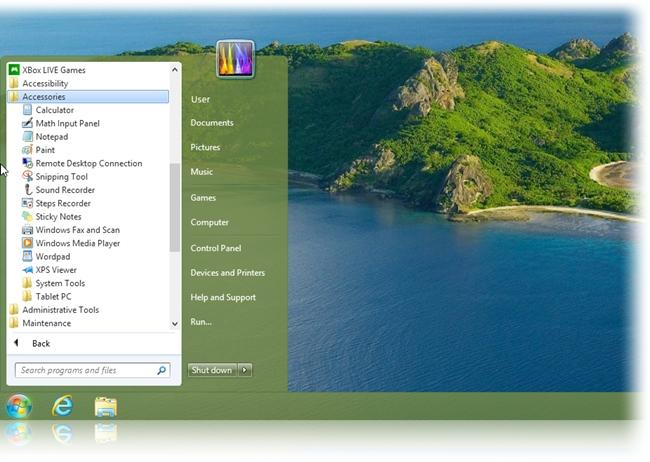 Agora também com o estilo do Windows 7.