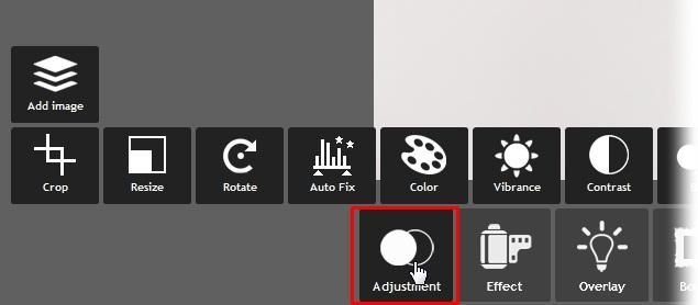 Algumas opções de ajustes do Pixlr Express