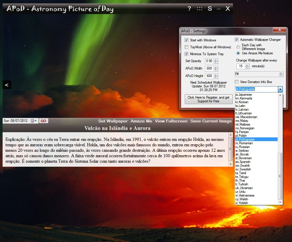 APoD - Imagem 2 do software