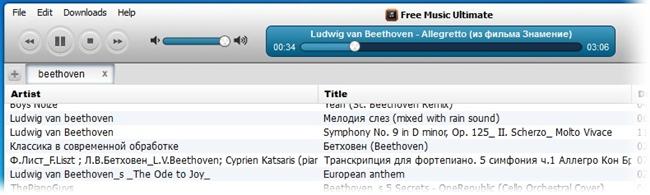 Controle as reproduções das músicas.