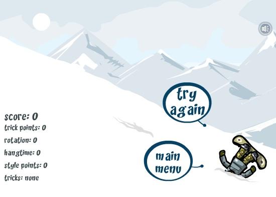 Cuidado para não cair de cara na neve.