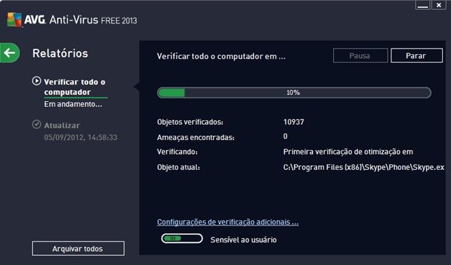 Caçando os malwares.