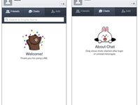 Visual minimalista � o destaque do LINE.