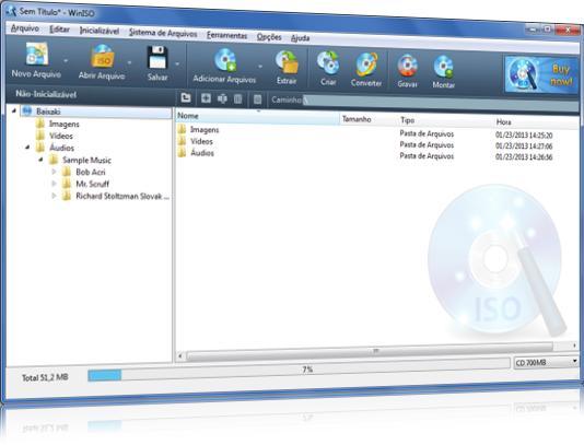 Grave, edite, converta e extraia dados de ISOs