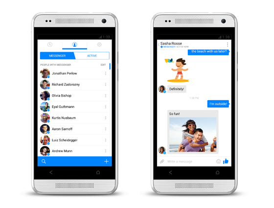 Facebook anuncia visual renovado para seu comunicador instantâneo