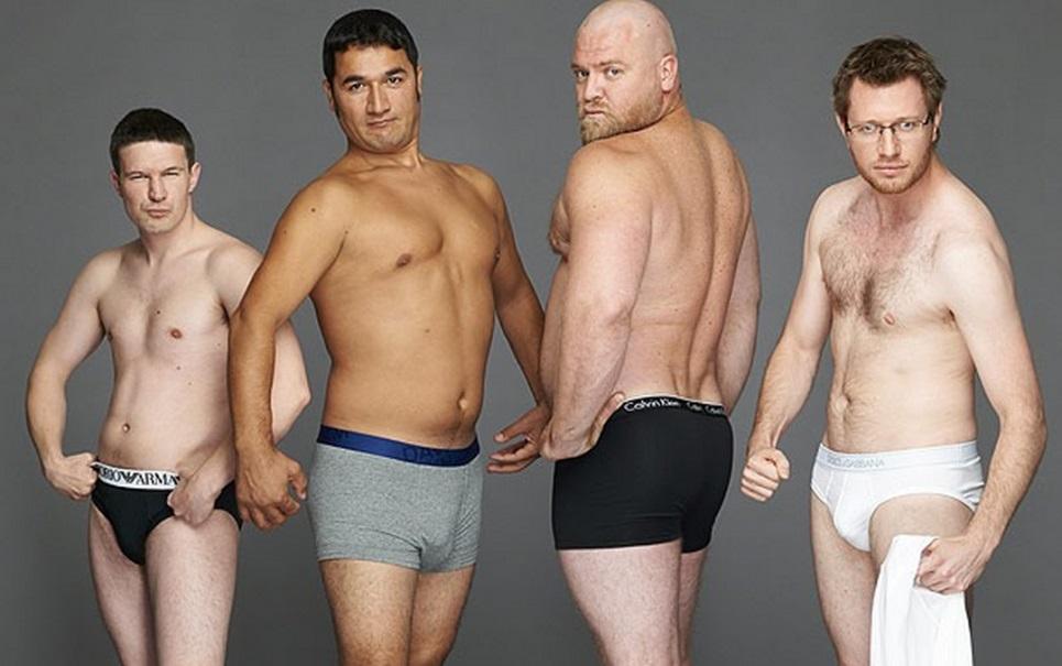 Como homens comuns ficariam em propagandas de cuecas?