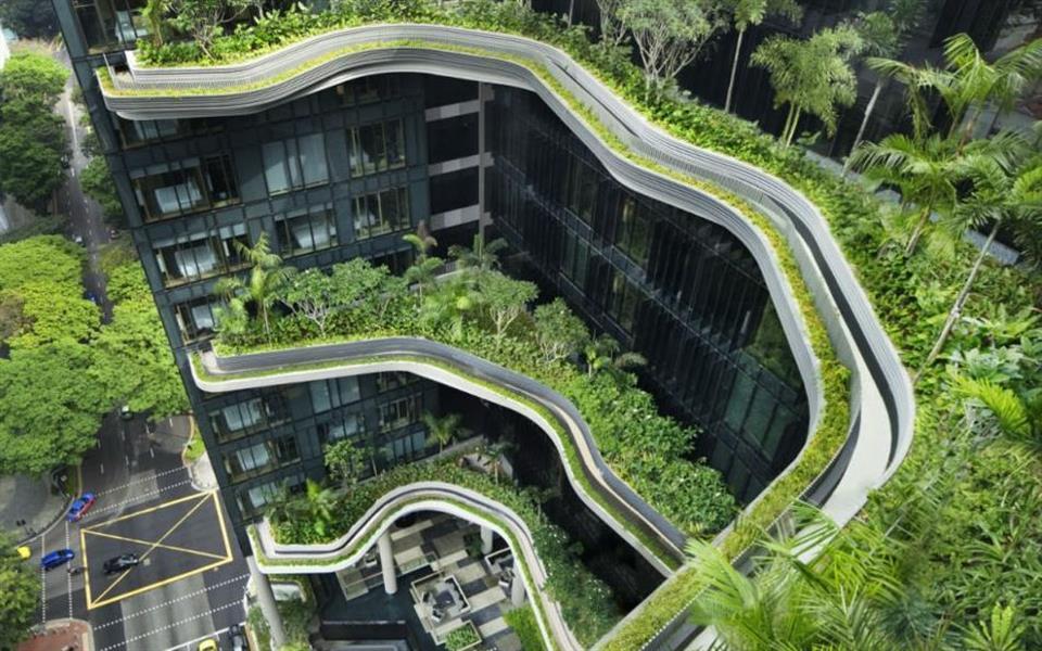 Arquitetura une design e natureza em hotel com jardins suspensos [galeria]