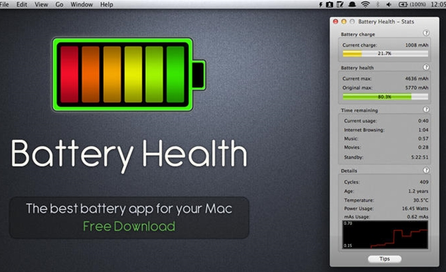 how to see battery health on mac