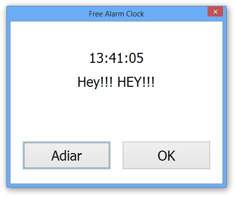 Despertador ativado