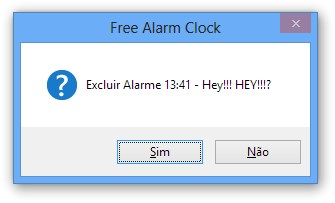 Excluindo um alarme
