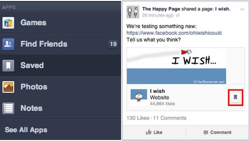 Facebook está testando ferramenta que salva