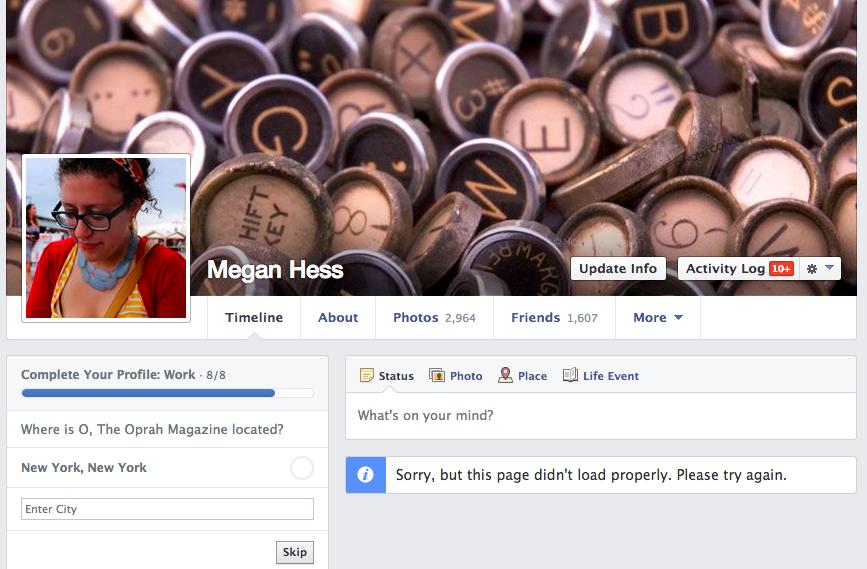 Páginas do Facebook enfrentaram problemas de carregamento