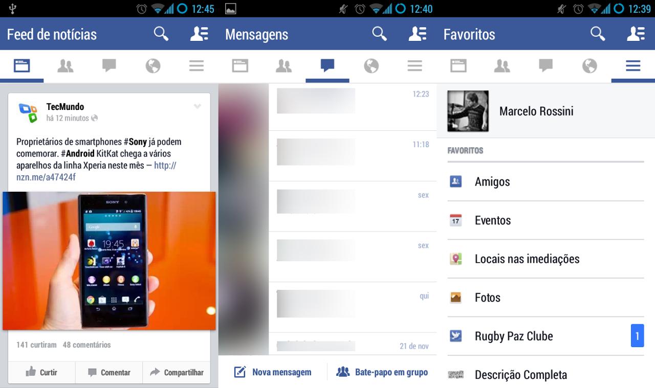 Versão de testes do Facebook para Android traz visual inteiramente renovado