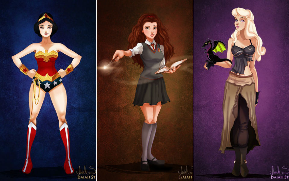 Designer transforma princesas da Disney em personagens da cultura pop