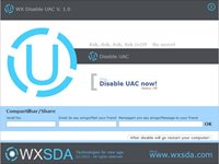 WX Disable UAC