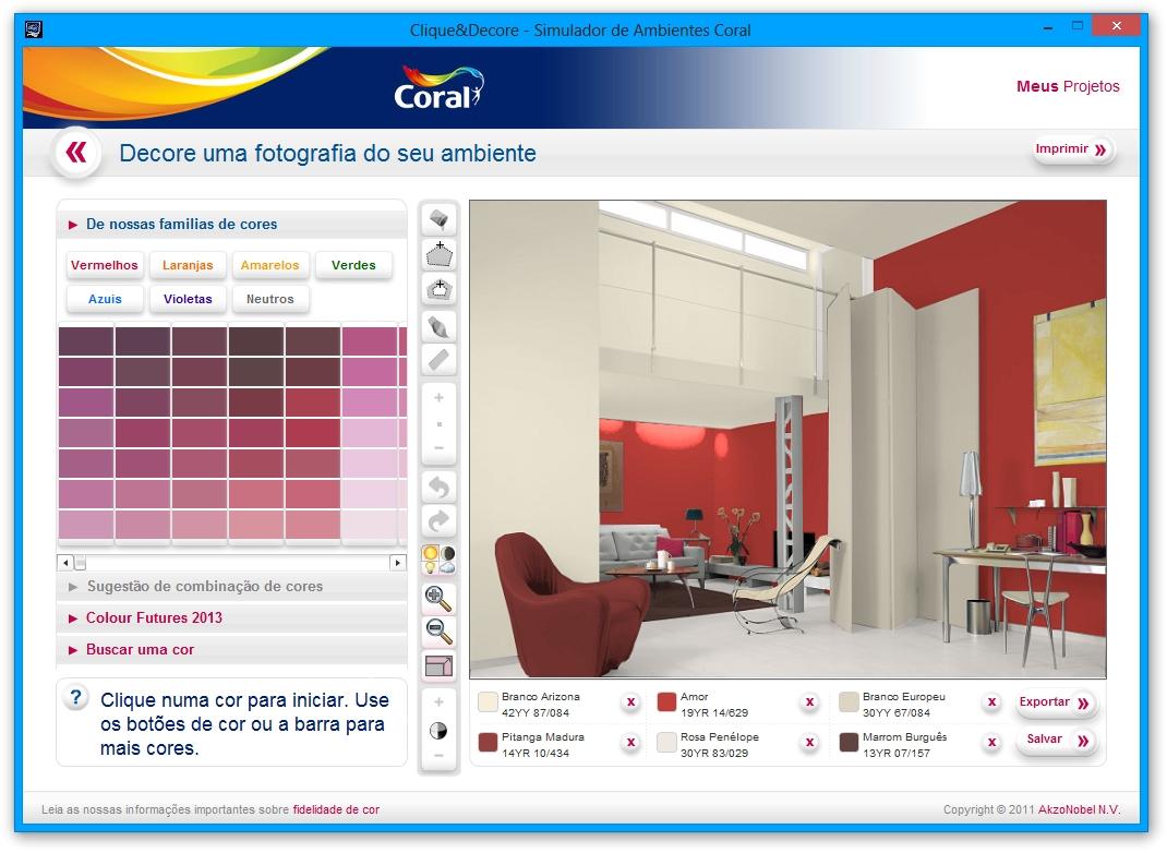 Clique e decore download - Programa para pintar paredes ...