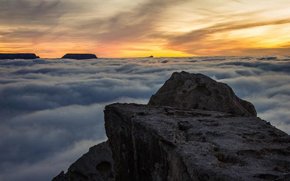 Fenômeno raro forma nuvens superbaixas no Grand Canyon [vídeo]