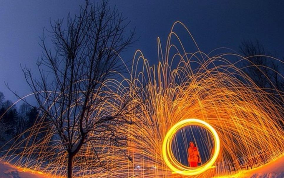 Nova moda no Instagram: tirar fotos de palha de aço com fogo
