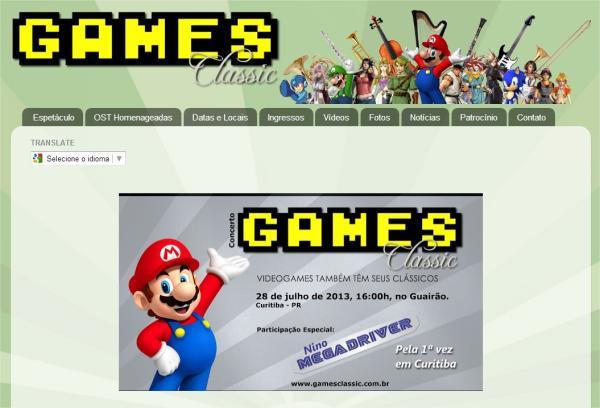 Curitiba recebe Games Classic Show em julho