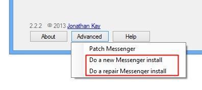 Tentando reparar ou reinstalar
