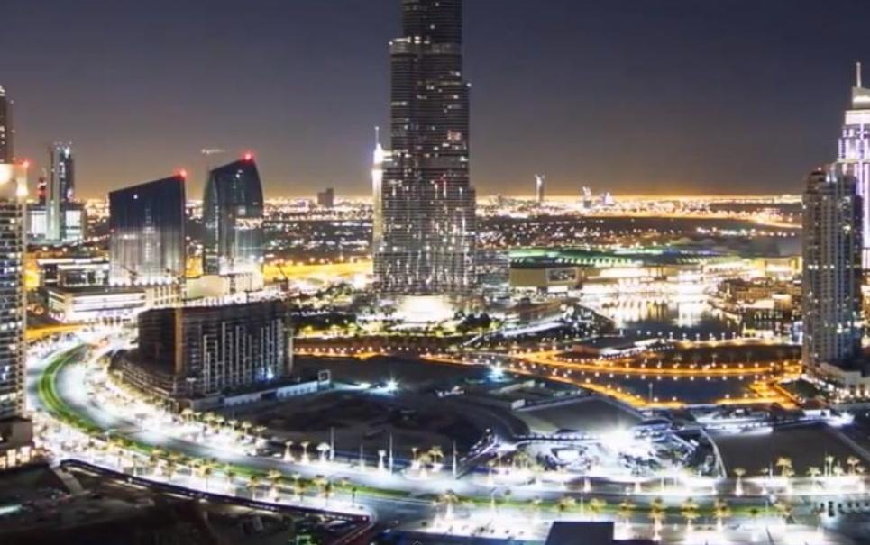 Vídeo mostra magia de luzes e sombras em Dubai