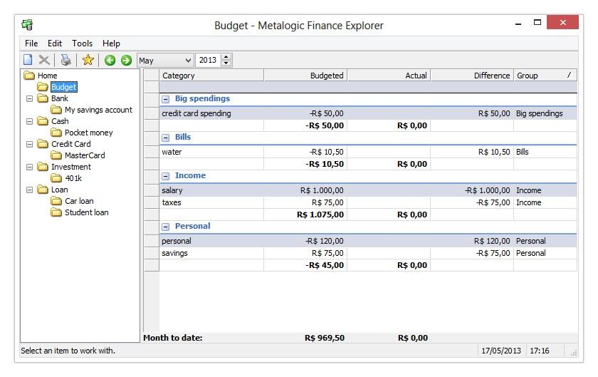 Metalogic Finance Explorer Portable