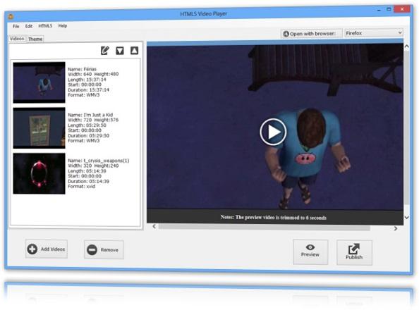 Adicionando os vídeos