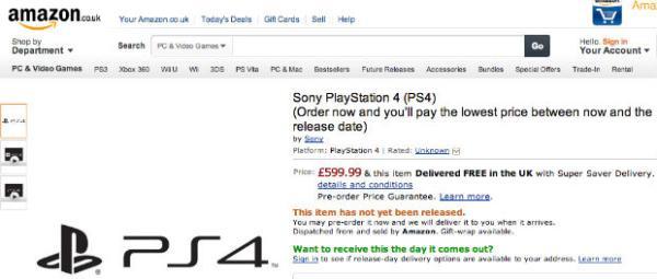 PlayStation 4 entra em pré-venda no Reino Unido e na Alemanha