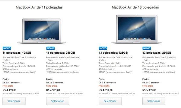 Site da Apple Store brasileira já tem novos MacBook Air e iPhone 5 6106462641019240