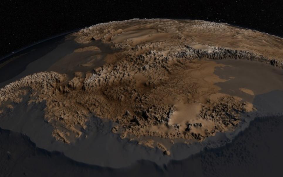 Qual seria a aparência da Antártida se ela não fosse coberta de gelo?
