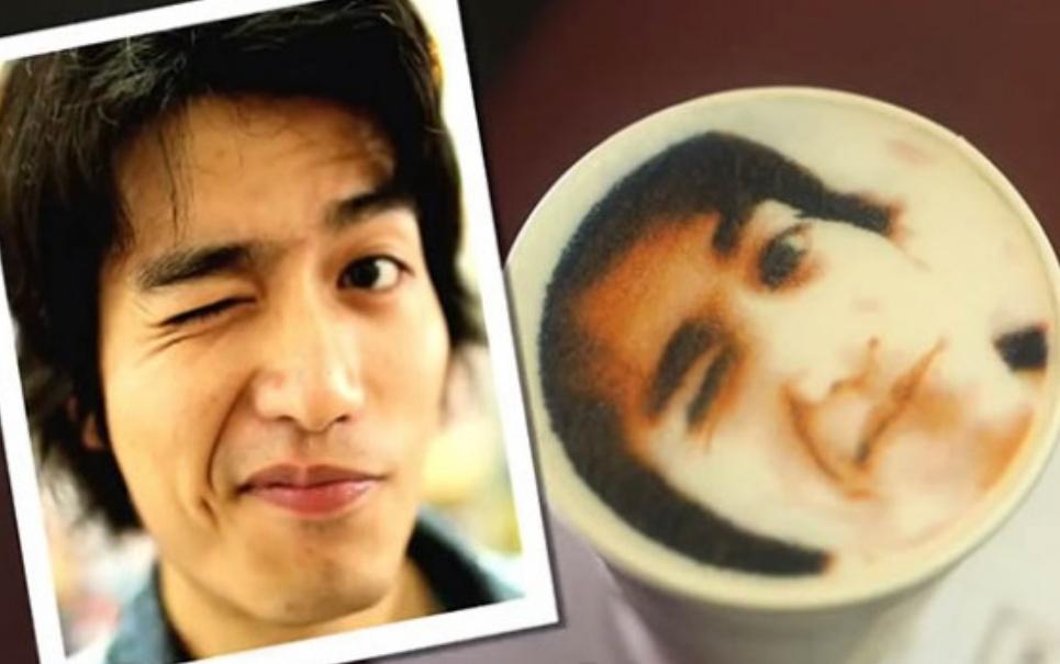 Cafeteria do Taiwan projeta fotos de clientes na espuma das bebidas [vídeo]