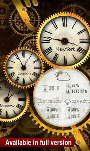 Free gold clock live wallpaper download - Gold wallpaper for android ...