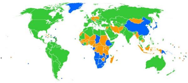 Mapa mostra qual o navegador mais popular em cada país