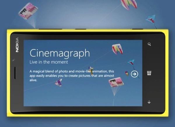 Atualização do Cinemagraph da Nokia adiciona filmagem em 720p e muito mais