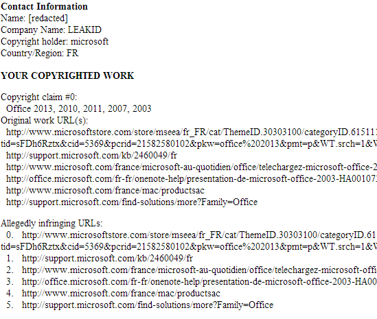 Microsoft pediu que a Google bloqueasse links para seu site oficial