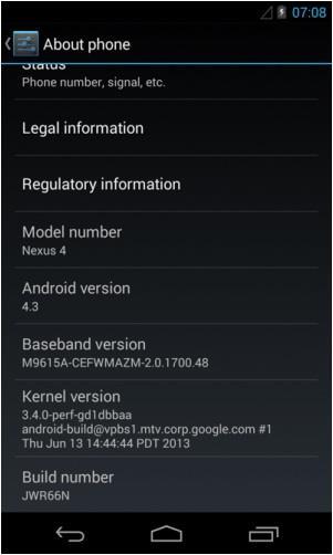 Android 4.3 vaza para Nexus 4 e só falta ser anunciado oficialmente [vídeo]