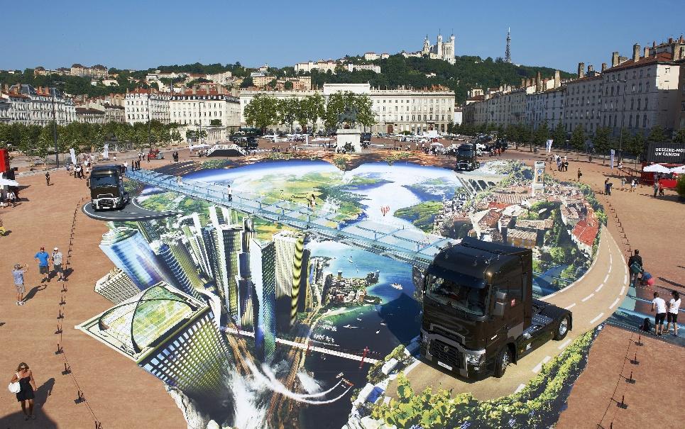 Renault cria a maior exposição de arte de rua em 3D do mundo