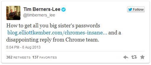 Senhas do Chrome são desprotegidas para