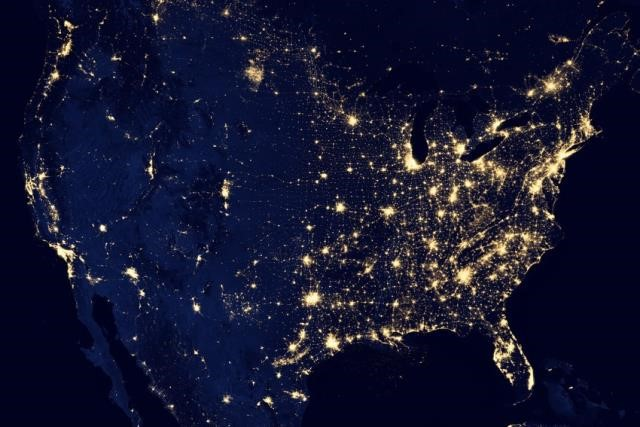 Resultado de imagem para imagens dos Eua visto do espaço