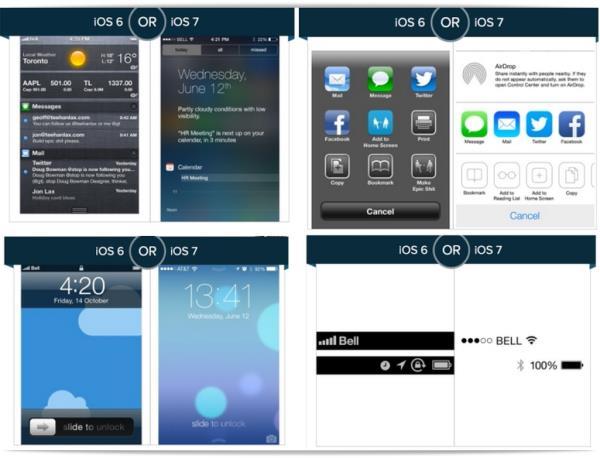 Design: iOS 7 ou iOS 6, qual você prefere? [enquete]