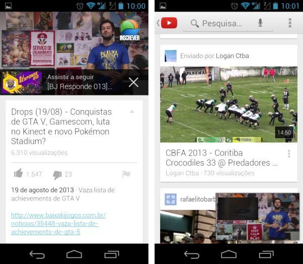 YouTube para Android é redesenhado e pode rodar vídeos durante navegação
