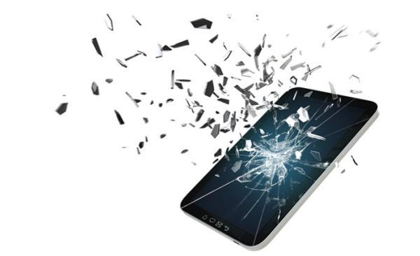 Resultado de imagem para celular quebrado