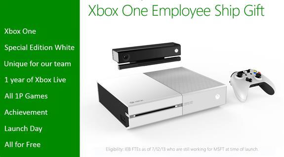 Funcionários da Microsoft ganharão versão exclusive do Xbox One