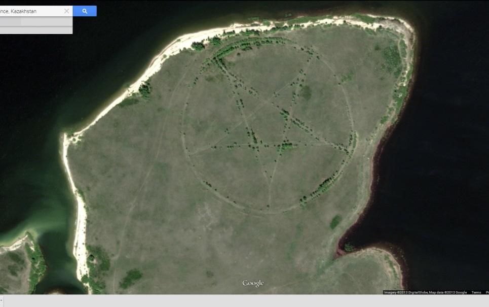 Gigantesco pentagrama é encontrado no Cazaquistão