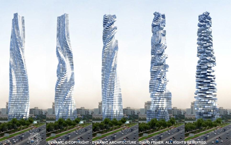 Projeto de edifício de Dubai prevê andares que giram de forma independente